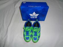 Luxusní modrozelené svítivé botasky na suchý zip, 36