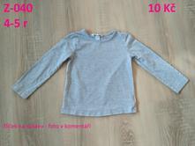 Tričko s dlouhým rukávem, h&m,110