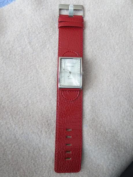 Červené dámské hodinky quartz excellanc,