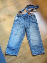Prďácké džíny, rifle s kšandama, h&m,80