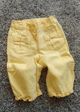 Letní žluté lněné kalhoty pod kolena, next,86