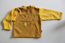 Žlutá fleesová mikina 92/98, frog,92