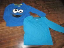 2 ks modrých triček s dl.rukávem zn. lupilu vel.86, lupilu,86
