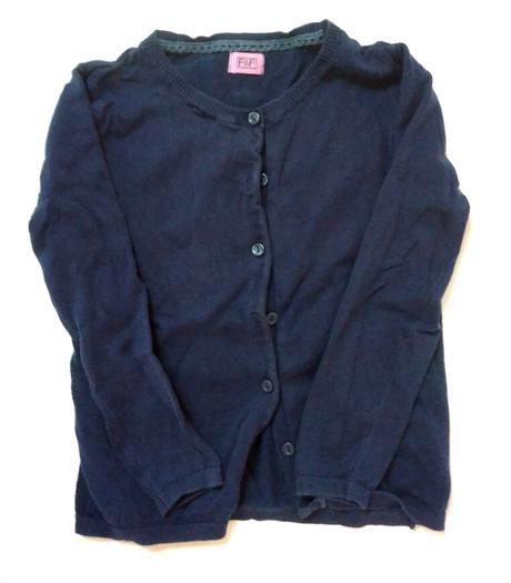 S98 - dívčí tmavě modrý svetr, f&f,116