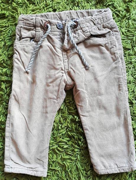 Kalhoty zimní manšestrové zn. zara 74 cm, zara,74