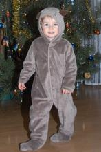 Vánoční hebký hnědý overal sob, 92