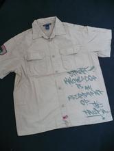 Hnědá košile h&m -vel.146-10/11 let, h&m,146