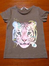 Krásné dívčí triko vel 104-110, h&m,110