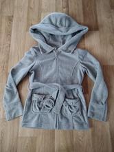 Šedý flaušový kabátek - 134/140, c&a,134