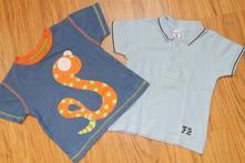 Dvě trička s krátkým rukávem - pouze tmavě modré, 80