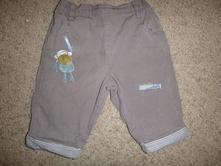 Kalhoty s opičkou podšité bavlnou , tu,68
