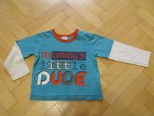 Bavlněné triko s nápisem, f&f,86