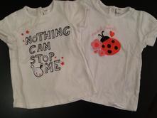 Dvě trička h&m s krátkým rukávem, h&m,92