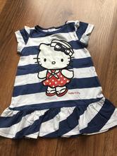 Letní šaty hello kitty, h&m,80