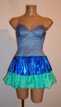 Kostým šaty tanečnice, ryba, vel. m., m