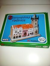 3d puzzle staroměstská radnice,