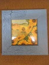 V014     obrázek slunečnice 26 x 26 cm ,