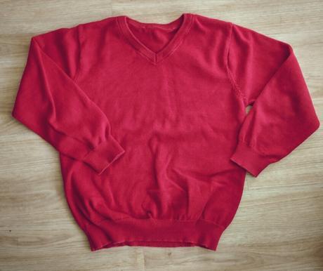 S16 - červený tenký svetr, f&f,134