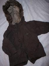 8042-hnědý přechodový kabátek 9-12 měsíců, next,80