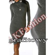 Pletené šaty s rolákem - více barev, l / m / s