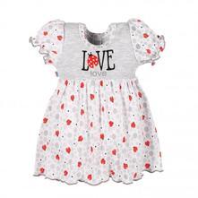Kojenecké šatičky new baby ladybird, šedá, new baby,62 / 68 / 74 / 80 / 86