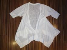 Luxusní bílý přehozový kardigan - m - l, m