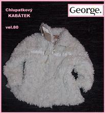 Chlupatkový kabátek vel.80 zn.george, ladybird,80
