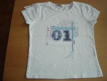 Bílé tričko george s nášivkou, george,134