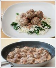 Švédské kuličky, špenátová rýže - Jamie Oliver