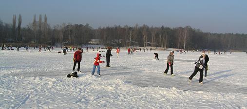 ... a Bolevecký rybník v zimě
