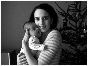černobílá máma a Lea :)