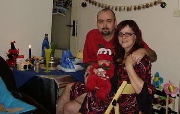 První pravá štědrovečerní večere doma...s mámou a tátou :-)