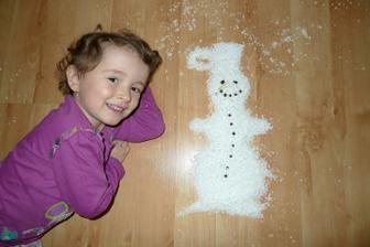 """""""Postavily"""" jsme i sněhuláka :)"""