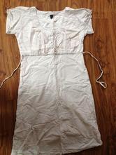 Letní proužkované bavlněné šaty, xl