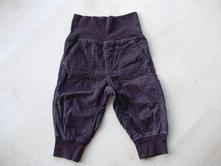 Manžestrové kalhoty tmavě hnědé kostkované, lupilu,80