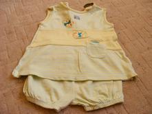 Letní komplet - tunika/šatičky s kalhotkami, 68