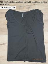 Černé letní tričko , terranova,s