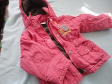 Růžová zimní bundička dirkje, 86