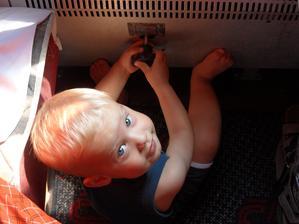 Brrrrm brrrrm - i ve vlaku se dá najít volant a řídit si ho sám :-)