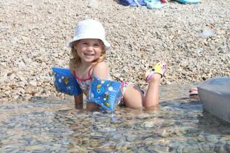 Chorvatsko, dovča. Jsem pobřežní neplavec :-))