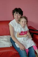 S babičkou Ájou, která mi ušila tyto krásné šatičky :)