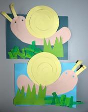 Šnek (barevné papíry+ sestavení koláže & lepení)