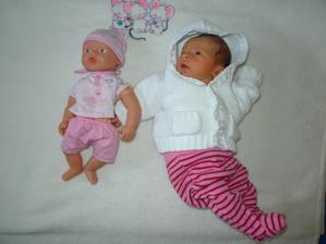 porovnání - nejmenší baby born :)