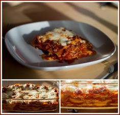 Lasagne (použila jsem sýr cottage místo bešamelu - díky @babettaboo)