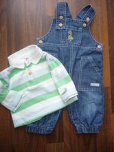 Kojenecký set - džíny a tričko s límečkem, c&a,62