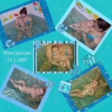Tak máme za sebou první lekci plavání - bylo to SUPER :-)