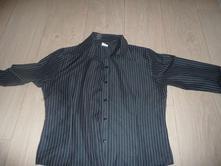 Košile černá s proužky, 42