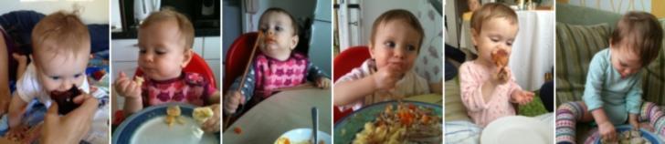 Různé způsoby, jak motivovat dítě, aby jedlo - nabízení velkých kousků jídla, samostatné krmení se, krmení se čínskými jídelními hůlkami, jídlo ze stejného talíře s rodičem, jídlo mimo stůl, jídlo u jiné činnosti