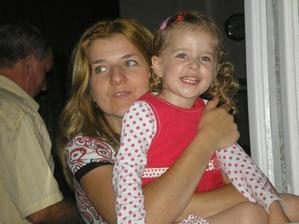s mamkou na rodinné oslavě