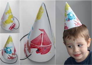Období karnevalů je tady... šaškovská čepička (tiskátka + vodovky)